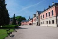 Pohled na západní křídlo zámku.