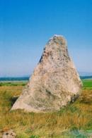 Zakletý mnich - menhir u Drahomyšle na Lounsku.