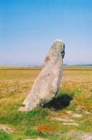 Zakletý mnich - menhir u vísky Drahomyšl.