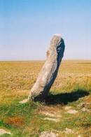 Zakletý mnich - menhir u vísky Drahomyšl na Lounsku.