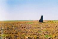 Menhir Zakletý mnich u Drahomyšle.