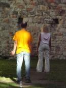 Meditující návštěvníci...