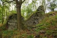 Zřícenina hradu postaveného Husity.