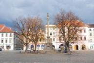 Morový sloup na Mírovém náměstí.