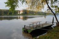 Malebné místo u řeky Labe.