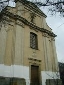 Pohled na kostel sv. Petra a Pavla.