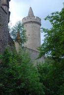 Pohled na hradní věž.