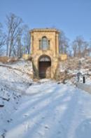 Zimní pohled na Laudonův pavilón.