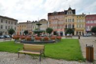 Jižní část Mírového náměstí.