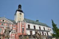 Pohled na kostel sv. Vojtěcha.