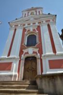 Průčelí kostela sv. Jakuba Většího.