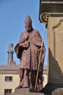 Detail sochy na mariánském sloupu.