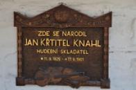 Pamětní deska Jana Křtitele Knahla.