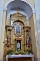Interiéry kostela Nanebevstoupení Páně.