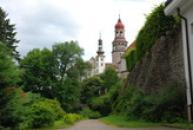 Pohled na zdejší zámek.