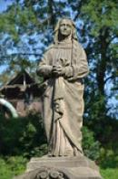 Detail sochy Panny Marie.