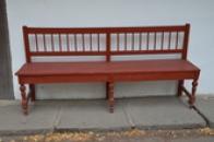 Selská lavice.