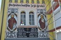 Fasáda kaple sv. Václava.