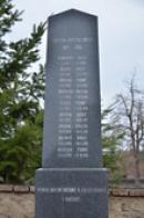 Detail památníku padlých.