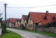 Západní část obce.