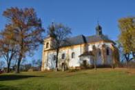 Pohled na kostel svatého Václava.