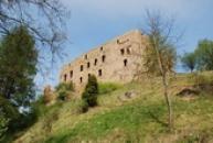 Zřícenina hradu na Rakovnicku.