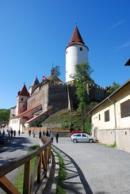 Cesta k hradu Křivoklátu.