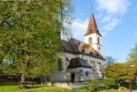 Kostel sv. Markéty od západu.