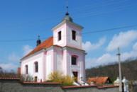 Kostel sv. Jakuba v barokním slohu.