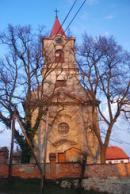 Průčelí kostela sv Kateřiny.
