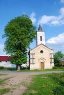 Kostelík sv. Prokopa ve směru na Kounov.