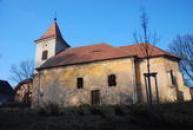 Pohled na kostel sv. Markéty.