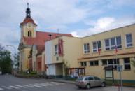 Výstavní síň Jiřího Anderleho v budově úřadu městyse.
