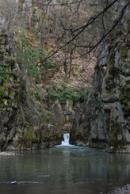 Pohled na vodopád.