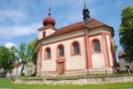 Kostel sv. Mikuláše se záhadným nápisem.