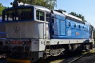 Lokomotiva řady 754 zvaná Brejlovec.