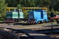 Posunovací lokomotivy.