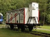 Pivovarnický vagón z nedalekých Krušovic.
