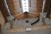 Detail střechy chrámu.