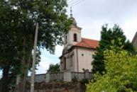 Kostel Sv. Kříže, pohled od jihu.