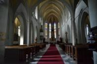 Interiér kostela sv. Jakuba.