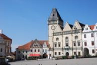 Jihozápadní část Žižkova náměstí.