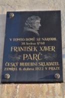 Památka na narození F. X. Parče.