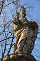 Detail sochy svatého Valentina.
