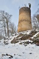 Pohled na válcovou věž.