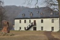 Pohled na panský dům.