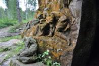 Detail reliéfu klanění pastýřů.