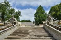 Detail kaskádového schodiště.