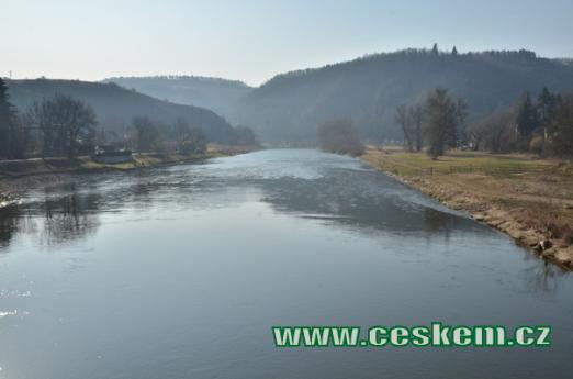 Řeka Berounka.
