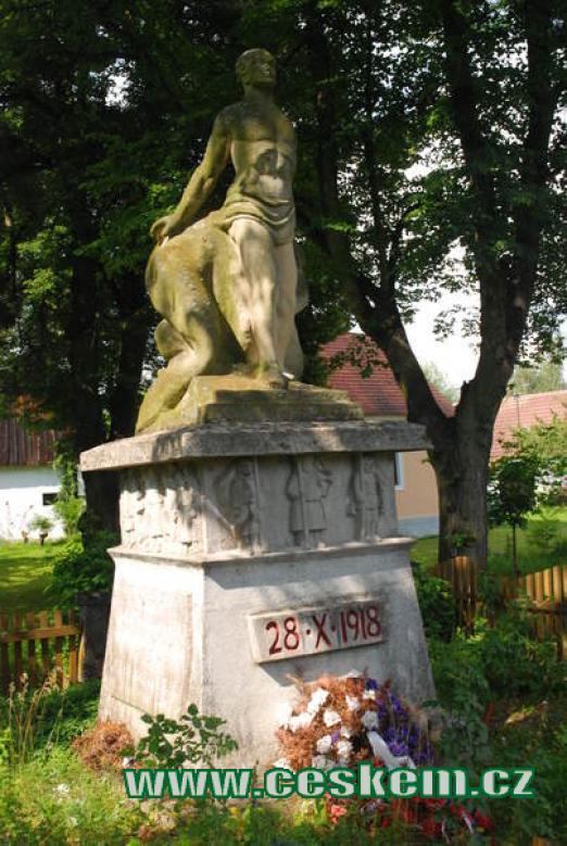 Památník padlých ve válce.
